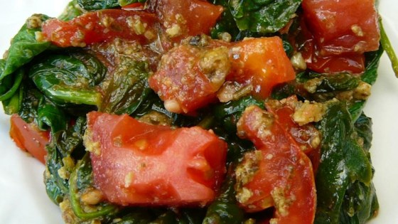 Photo of Pesto Spinach and Tomatoes by Volleyballmom