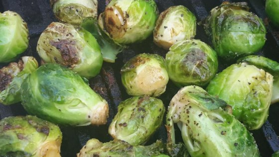 Photo of Grilled Brussels Sprouts by CHEF CLAY