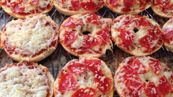 Easy Mini Bagel Pizzas Recipe Allrecipes