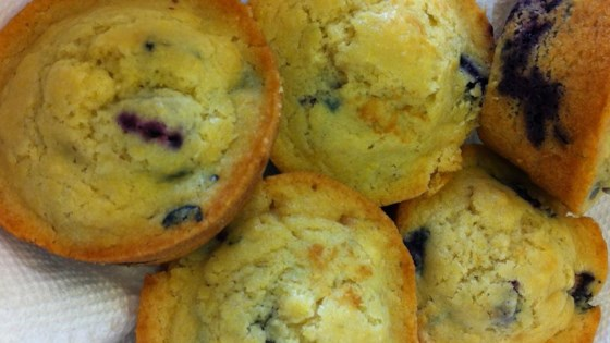Photo of Blueberry Cornmeal Muffins by Shelley Albeluhn