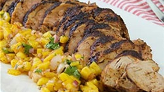 Photo of Chili-Rubbed Pork with Mango Salsa by McCormick Spice