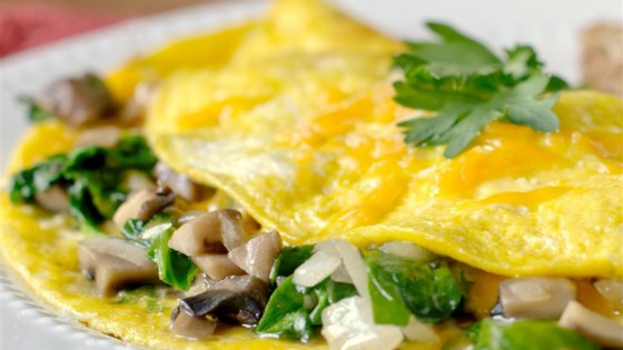 Photo of Mushroom Spinach Omelet by SaraBeth