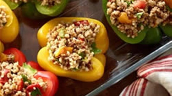 Photo of Stuffed Peppers with Ancient Grains and Roasted Peppers by Yves Veggie Cuisine