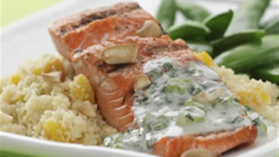 Photo of Cashew Salmon with Apricot Couscous by Breana Lai, M.P.H., R.D.