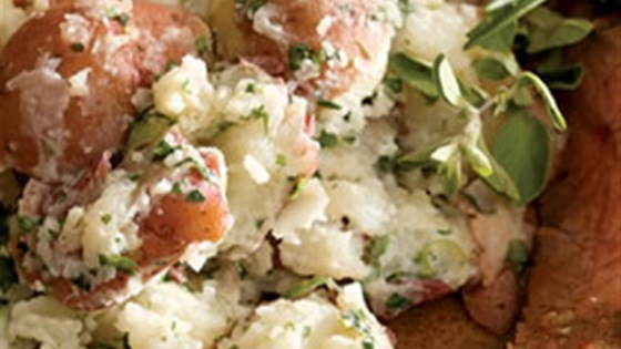 Photo of Parsley Smashed New Potatoes by Breana Lai, M.P.H., R.D.