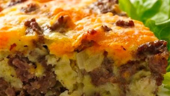 Photo of Gluten-Free Impossibly Easy Cheeseburger Pie by Bisquick