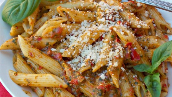 Photo of Red Pepper Pesto Pasta by luke