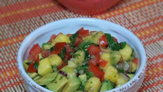 Photo of Refreshing Avocado, Tomato, and Mango Salsa by Citygirlincountry