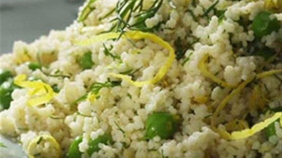 Photo of Whole-Wheat Couscous with Parmesan and Peas by Breana Lai, M.P.H., R.D.