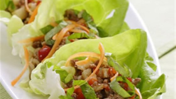 Photo of Five-Spice Turkey and Lettuce Wraps by Breana Lai, M.P.H., R.D.