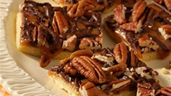 Photo of Caramel Pecan Shortbread Bars by PAM® Cooking Spray