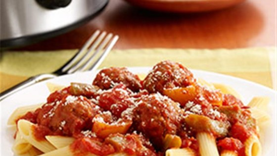 Italian Meatballs and Peppers by PAM®