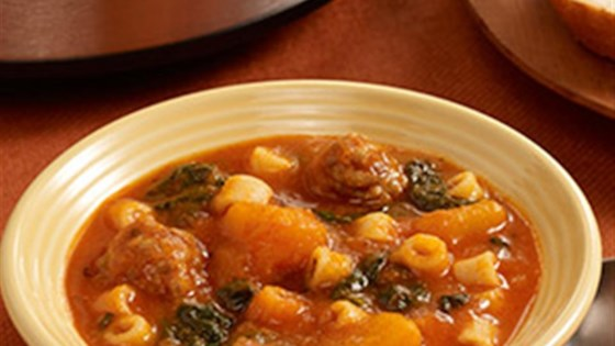 Photo of Slow Cooker Butternut Squash Soup with Sausage by Pam Cooking Spray