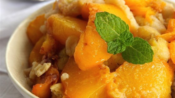 Photo of Sugar Free Peach and Banana Cobbler by Sandi Nicol