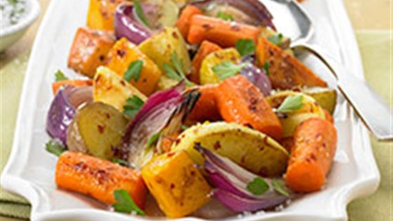 Photo of Napa Style Roasted Vegetables with Diamond Crystal® Sea Salt by Diamond Crystal Salt
