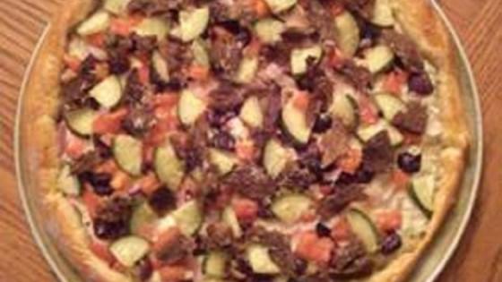 Photo of Greek-Italian Fusion - Beef Souvlaki Pizza by Arads