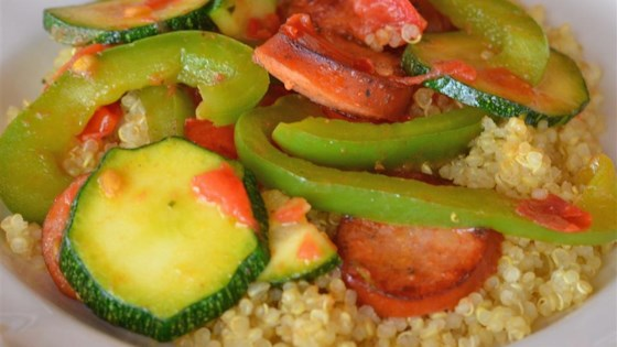Photo of Easy Skillet Sausage and Vegetables by Jessica Chrysam Wood
