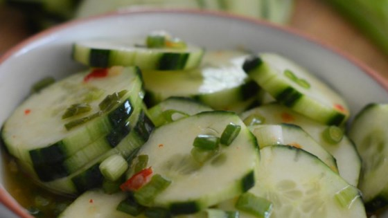 Photo of Cucumber Salad With Thai Sweet Chili Vinaigrette by maryelle