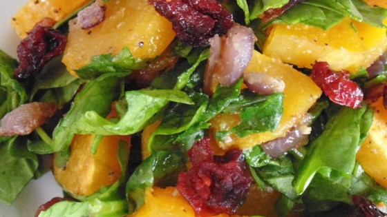 Photo of Roasted Butternut Squash with Onions, Spinach, and Craisins® by Marcia