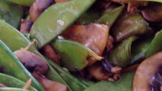 Stir Fried Snow Peas and Mushrooms