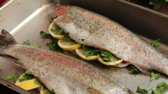 Photo of Baked Fresh Rainbow Trout by In-a-Pickle