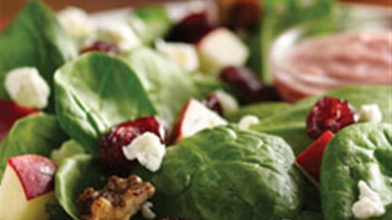 Spinach Salad with Pomegranate Cranberry Dressing Recipe