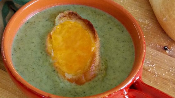 Photo of Simple Broccoli Soup with Cheddar Croutons  by Chef John