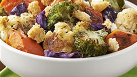 Photo of Herb Roasted Vegetables with Garlic Croutons by Crisco