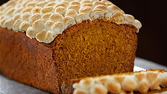 Photo of Pumpkin Spice Bread with Toasted Marshmallows by Crisco