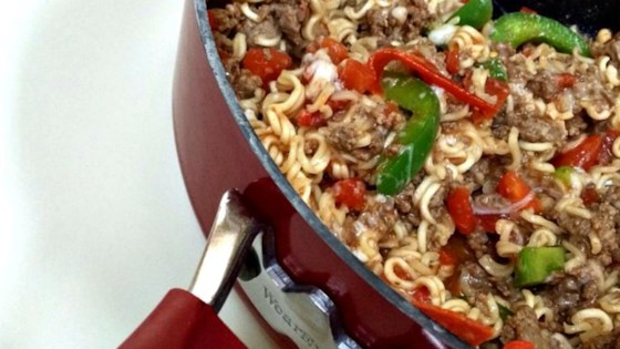Photo of Beefy Italian Ramen Skillet by mastbath