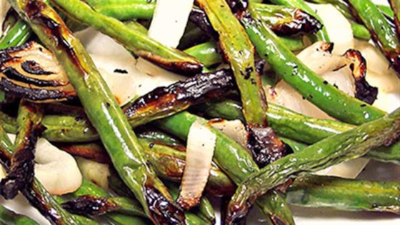 Photo of Grilled Green Beans and Onions by Lillian
