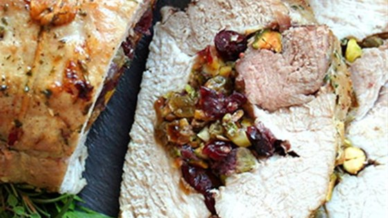 Photo of Herb Salted Pork Loin with Dried Fruit & Pistachio Stuffing by Diamond Crystal Salt