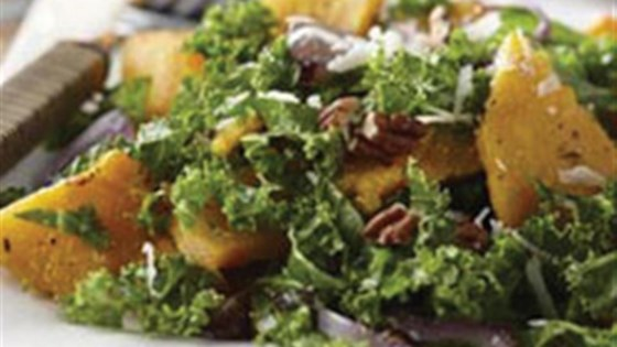 Photo of Autumn Butternut and Kale Salad with Maple Vinaigrette by Mazola