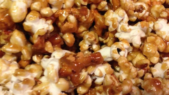 Photo of Caramel Pretzel Nut Popcorn by rookieswife