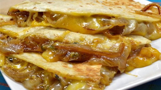 Photo of Caramelized Onion and Jalapeno Quesadillas by ALICIA26