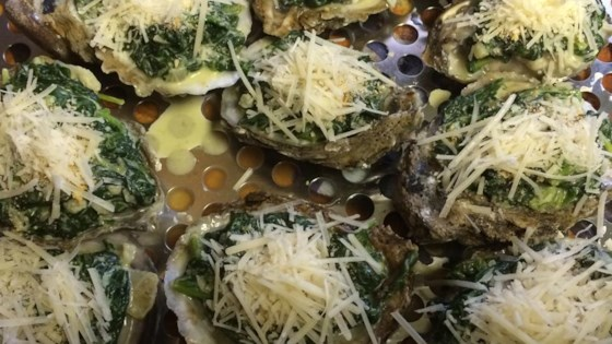 Photo of Oysters Rockefeller from USA Weekend by USA WEEKEND columnist Jean Carper