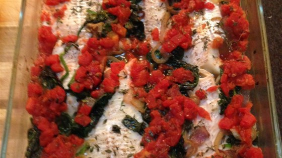 Photo of Baked Haddock with Spinach and Tomatoes by Mia