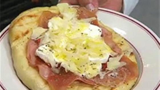 Pizza with Mortadella and Prosciutto