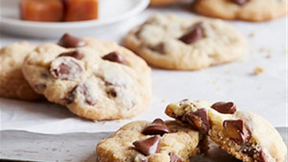 Photo of NESTLE® TOLL HOUSE® Caramel Filled DelightFulls™ Chocolate Chip Cookies by Nestle Toll House