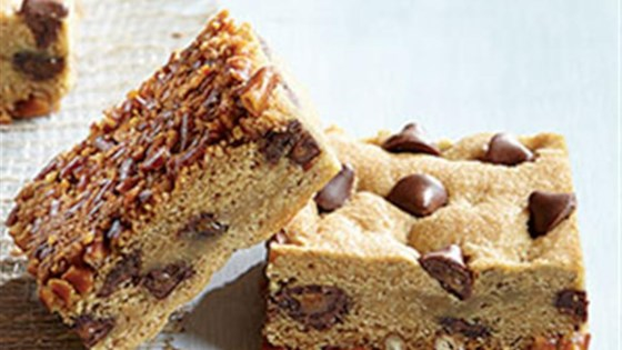 "Photo of ""Flipped"" Pretzel Cookie Bars with Caramel Filled DelightFulls™ by Nestle Toll House"