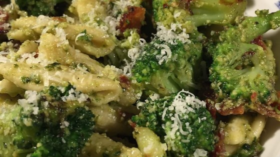 Photo of Cavatelli Pesto with Broccoli and Bacon by ashley