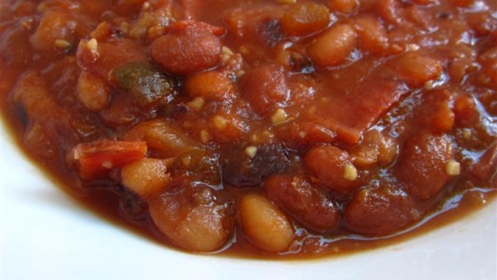 Easy Slow Cooker Baked Beans