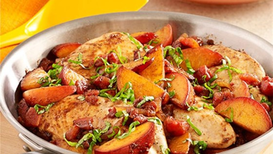 Photo of Peach Balsamic Chicken Skillet by Hunts.com