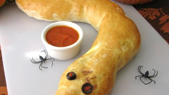 Photo of Spooky Calzone Snake by prttimecook