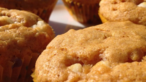 Photo of White Chocolate Pumpkin Spice Muffins by Danielle Lockley