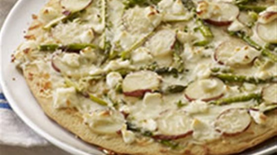 Photo of Asparagus, Potato and PHILLY Pizzeria Pizza by PHILADELPHIA Cream Cheese