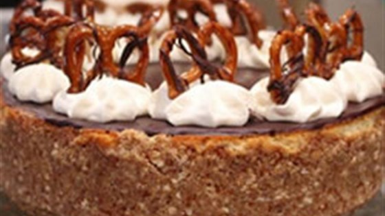 Photo of Caramel-Pretzel Cheesecake by PHILADELPHIA Cream Cheese