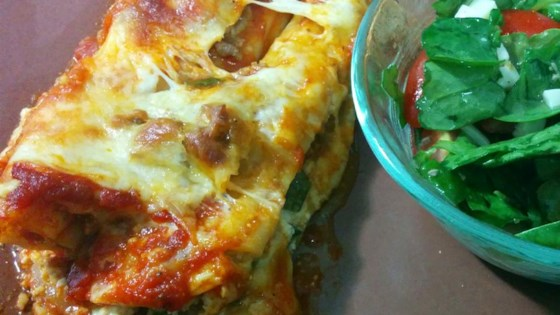Photo of Spinach Manicotti with Italian Sausage by Cherokee Princess