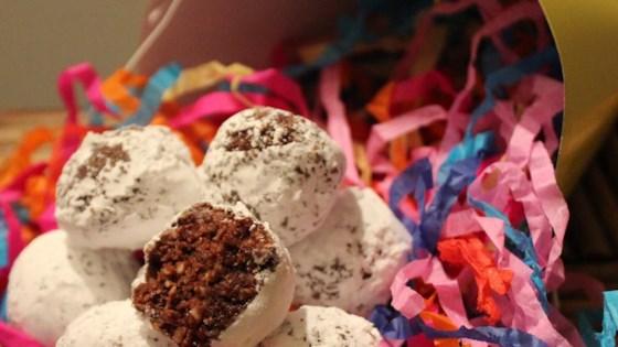 Photo of Easy Cheerio® Coconut Rum Balls by Gingerbreadgirlz