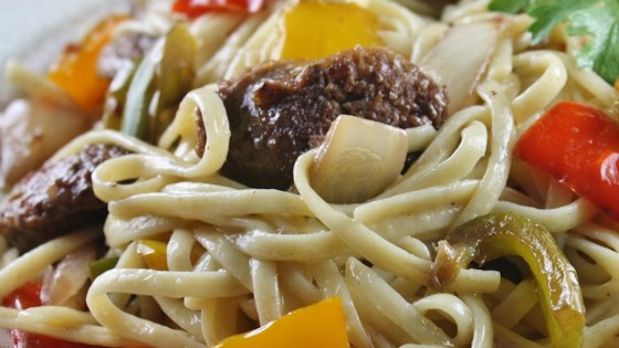 Photo of Linguine with Peppers and Sausage by Jackie
